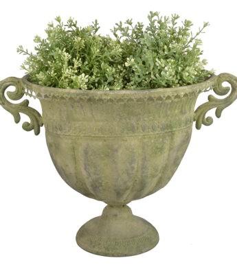 Žalsvo metalo vazonas - vaza