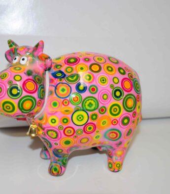 Taupyklė-karvė-rožinė