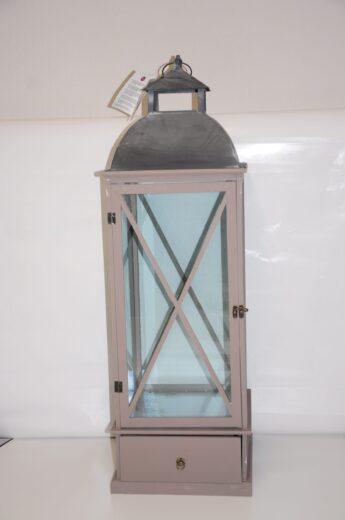 Pilkos-spalvos-žibintas- žvakidė